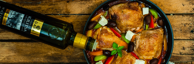 Курица, обжаренная на оливковом масле
