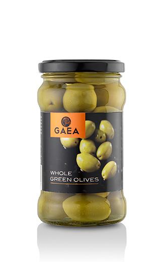 """Оливки зеленые """"Gaea"""" с косточкой"""