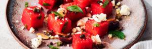 Салат из арбуза и оливок