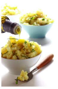 Вкусный салат из картофеля с оливковым маслом