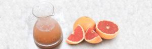 Салатная заправка из лука-шалот и грейпфрутового сока