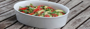 Салат с кабачком и помидорами