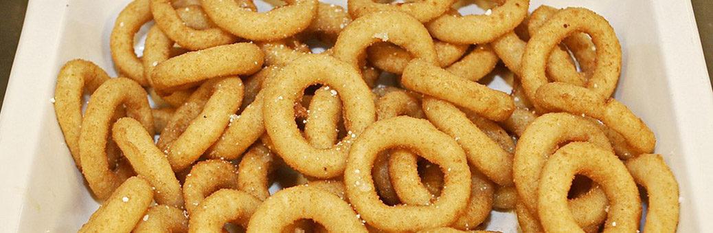 Луковые кольца с моцареллой