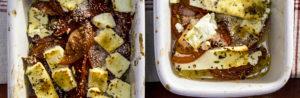 Рецепт запеченного с помидорами сыра