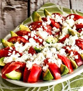 Салат с авокадо, помидорами и сыром Фета рецепт